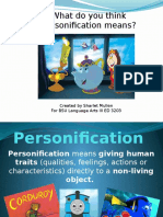 personification reading lesson