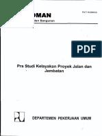 1 Pra Studi Kelayakan Proyek Jalan Dan Jembatan(1)