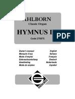 Ahlborn Hymnus IV - Manual de Usuario