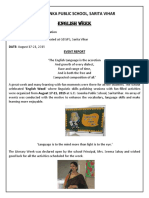 English Week Report