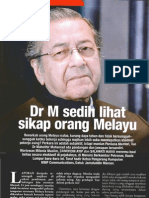 Dr M Sedih Lihat Sikap Orang Melayu