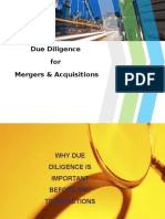 Due Diligence in M& A