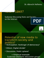 Kalam Sakit? Sudanese discussing state and society on the internet
