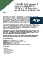 xido z110-3g - tablet pc de 10 pulgadas, 3 g, pantalla tactil de 1280 x 800, hdmi, navegacion, 1 gb ram, 16 gb de memoria interna, camara dual, android 4.4, bluetooth, gps.pdf
