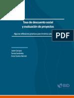 Monografia Tasa de Descuento Social y Evaluacion de Proyectos(1)