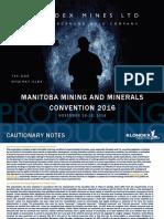 Manitoba Mining and Minerals Convention November 16-18-2016