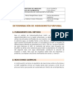 Determinación de Hidroximetilfurfural