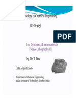 L-10 CHN-425 Synthesis of Nanomaterials Lithography-II