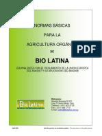 Normas de Produccion Organica BIOLATINA -GNP-CEE-080210