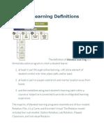 Blended Learning Definitionsblended