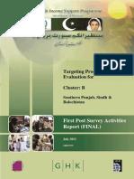 Cluster B - First Post Survey Activities Report - Final