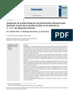 Evaluación de la efectividad de una intervención educativa para disminuir el peso de la mochila escolar en los alumnos de 3.° y 4.° de educación primaria.pdf