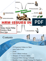 HRM Issues in China
