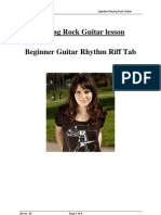 Playing Rock Guitar Lesson Beginner Rythm Tabs