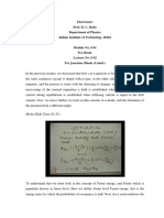 Lecture on PN Junction