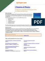 Fundamental Theories of Physics_series Sheet_17102011