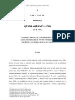 Quadregesimo anno - enciklika Pija XI