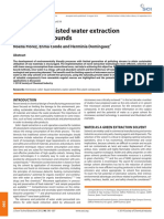 Microwave Assisted Water Extraction of Plant Compounds