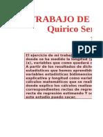 Quirico Serrano Estadística Trabajo