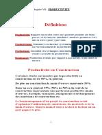 administration et contrôle de construction Chapitre VII