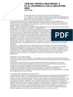 Implementación Del Modelo Neoliberal y Restricciones Al Desarrollo en La Argentina Contemporánea