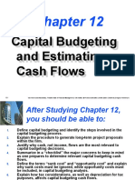 Ch 12 Capital Budgeting and Estimating Cash Flows
