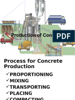 Process of Manufacture of Concrete