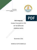 Set de Ejercicios 1 en IFRS - SICA Integrado 2016