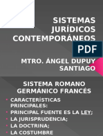 CARACTERISTICAS SISTEMAS JURIDICOS  CONTEMPORANEOS