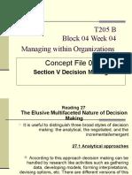 T205B - Block 04 - Week 05