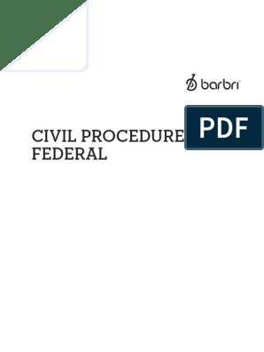 Barbri Civ Pro Outline pdf   Collateral Estoppel   Diversity