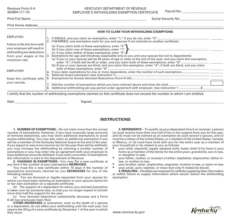 K4 Formpdf Withholding Tax Stepfamily