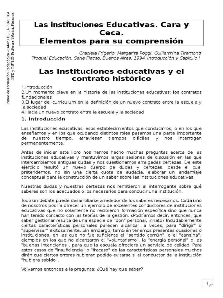 2- Las Instituciones Educativas y El Contrato Social