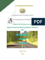 Informe de diseño geometrico de una carretera