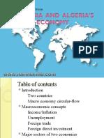 A comparison between Malaysia  and  Algeria's economy