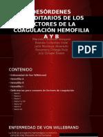 Desórdenes Hereditarios de Los Factores de La Coagulación y Hemofilias