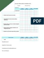 classroom observation checklist 1a