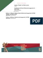 Agenda Prensa 14 FICM