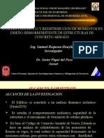 ANALISIS INELASTICO Y REDISTRIBUCION DE MOMENTOS EN DISEÑO SISMORRESISTENTE DE ESTRUCTURAS DE CONCRETO ARMADO