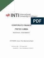 Corporate Finance - Kishin Sham Mahtani