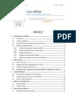 C Tablas y Sus Componentes 2013