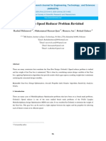 speed reducer pseudoengineering optimization problem revisited