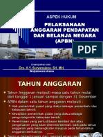 7. Kuliah 7 =  Aspek Hukum Pelaksanaan APBN - Alih Prog.  1