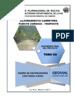 Diseño Distribuidores Con Pasos a Nivel (Pte. Coroico-teoponte)