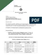 Lecturas Obligatorias del MEP para el 2011