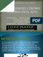 Universidades Con Mas Demanda en El Alto
