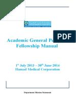 fellowship manual  under development