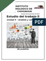 Estudio Del Trabajo Unidad 5 Analisis y Valuacion de Puestos