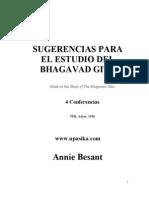 annie besant - sugerencias para el estudio del bhagavad gita