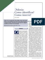 Dislexia Como Identificar e Intervir